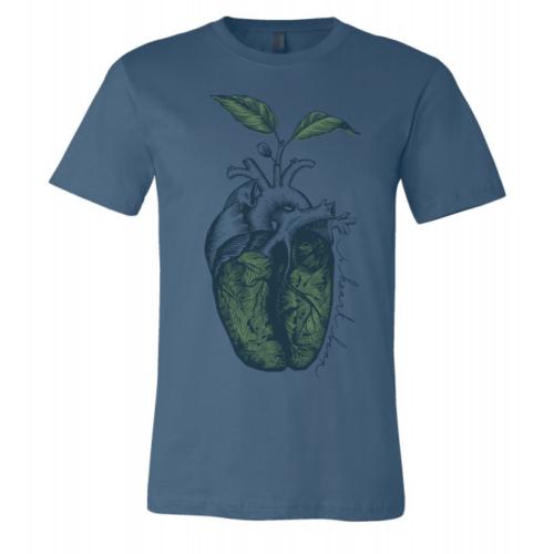 i heart bean shirt - blue