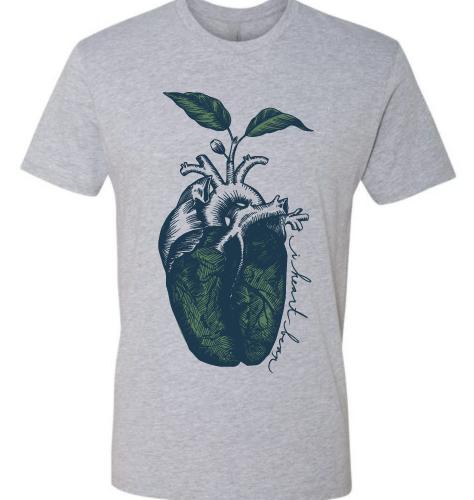 i heart bean shirt - grey